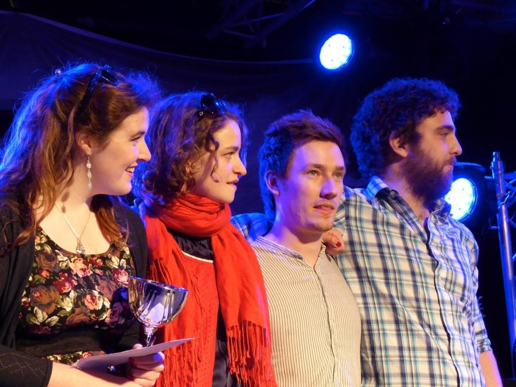 Receiving second prize at the Trophée Loïc Raison!